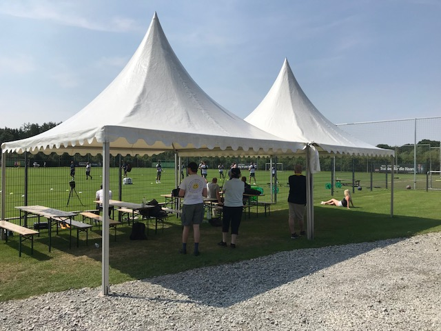 Tent at training ground